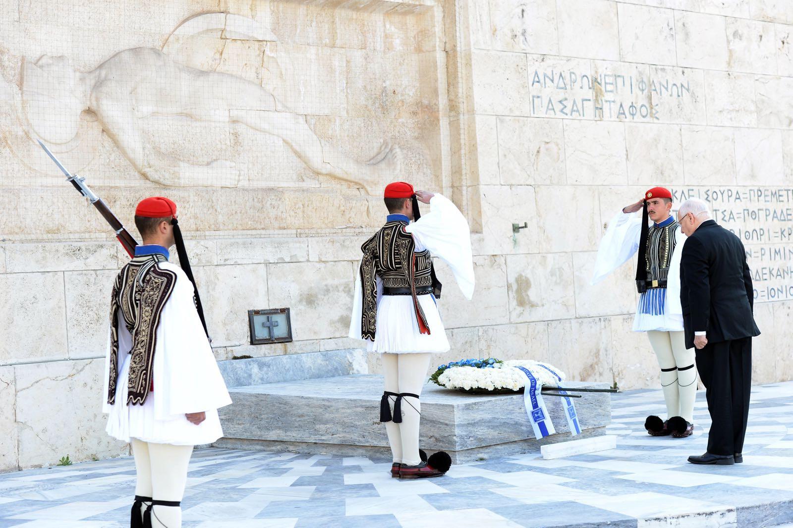 الرئيس الإسرائيلي رؤوفين ريفلين في أثينا