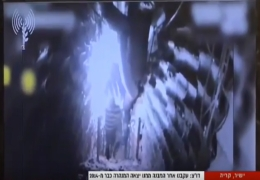 ظهور عناصر من حزب الله يتحركون داخل النفق الذي اكتشفه الجيش