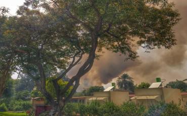 مشاهد جوية لغلاف غزة تظهر الخسائر بفعل الطائرات الحارقة