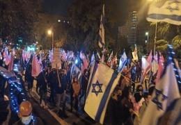 استمرار الاحتجاجات المناهضة لنتنياهو في جميع أنحاء البلاد