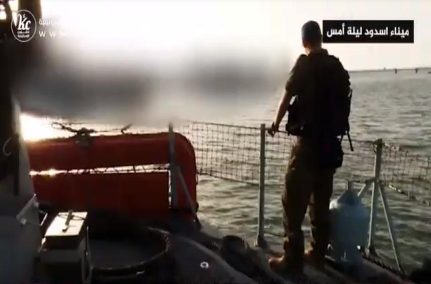 هكذا تعمل سفن سلاح البحرية قبالة شواطئ غزة
