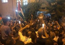 المئات يشاركون في جنازة الشهيد محاميد بأم الفحم