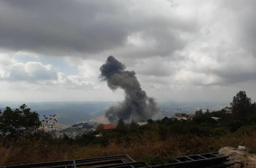 انفجار كبير في موقع لحزب الله جنوب لبنان