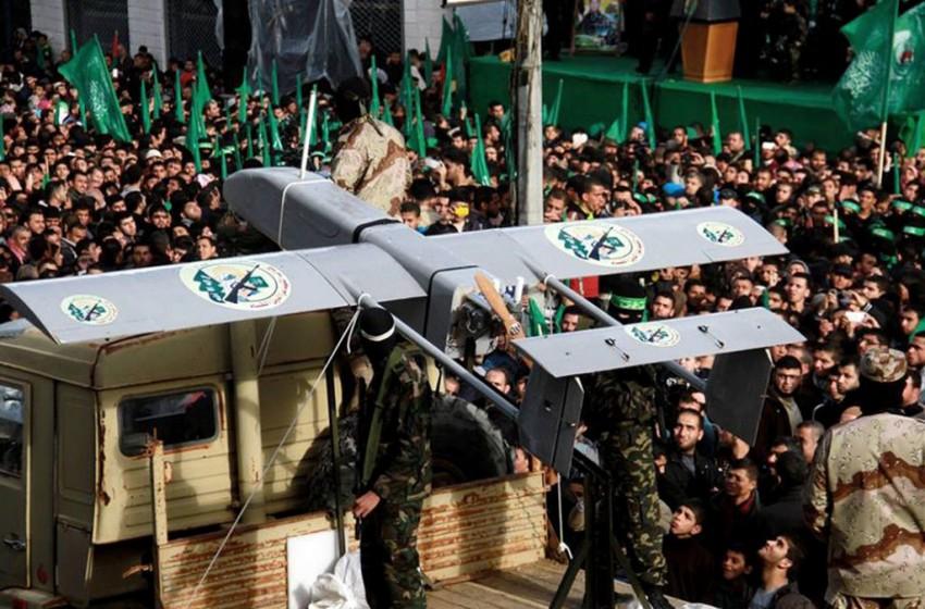 """طائرة حربية """"إسرائيلية"""" تسقط طائرة بدون طيار لحماس"""