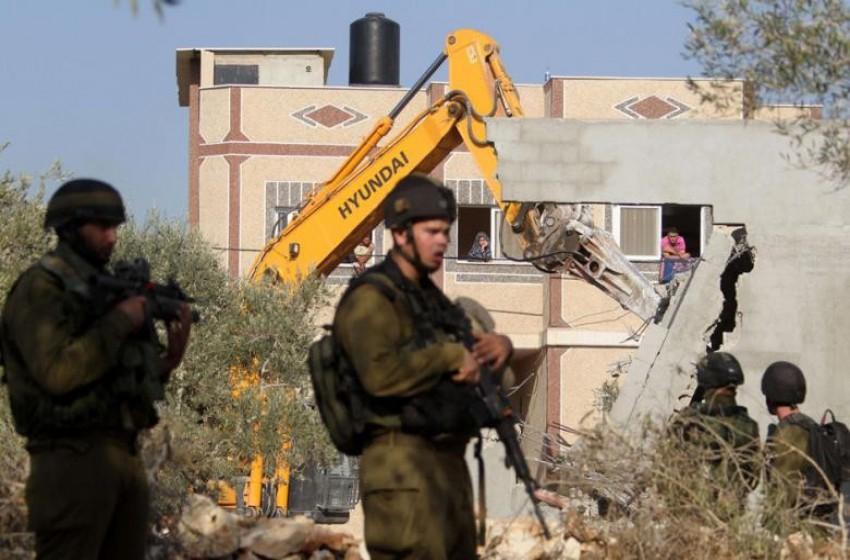 الجيش الإسرائيلي يهدم منزل احد منفذي عملية ايتمار