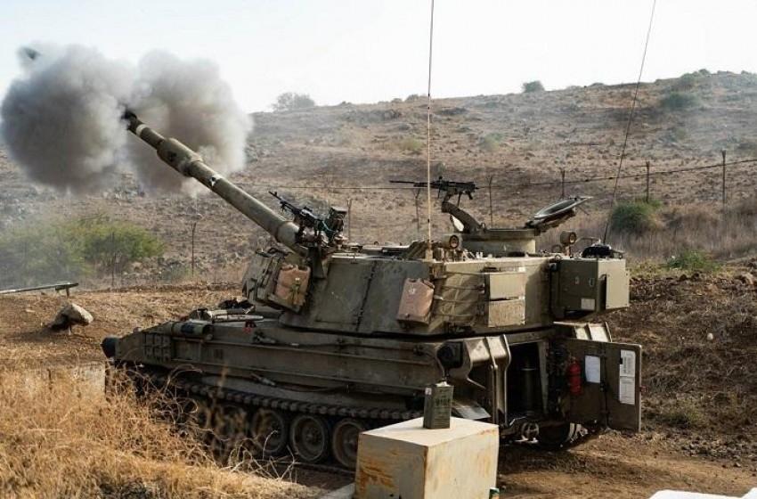 مناورة لسلاح المدفعية الإسرائيلي قرب الحدود اللبنانية